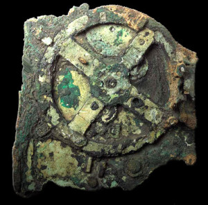 Mecanismo de Antikythera. Imagen tomada de:http://antikythera-mechanism1900.blogspot.com.co/
