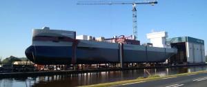La M/N Greenland fue botada el 31 de Octubre en el astillero Ferus Smit en Westerbroek. Imagen tomada de www.ferus-smit.nl