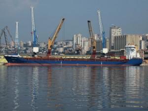 """El """"Thorco Cloud"""" es un buque de carga general construido en el año 2004 de 10.385 toneladas de peso muerto y con bandera de Antigua. El buque es manejado por la empresa danesa THOR SHIPPING AS. Imagen tomada de: www.vesselfinder.com"""