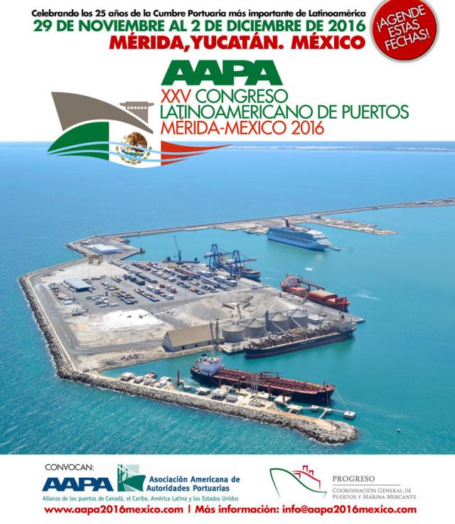 AAPA, Asociación Americana de Autoridades Portuarias, Mérida, México, Yucateca, estrategias largo plazo, desarrollo sostenible,Congreso Latinoamericano de Puertos,Noticias Marítimas Colombia, congreso