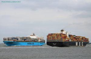 Maersk, MSC, China Shipping, Cosco, Evergreen, CMA CGM, Hapag Lloyd. SeaIntel, competencia, top 6, Noticias marítimas Colombia