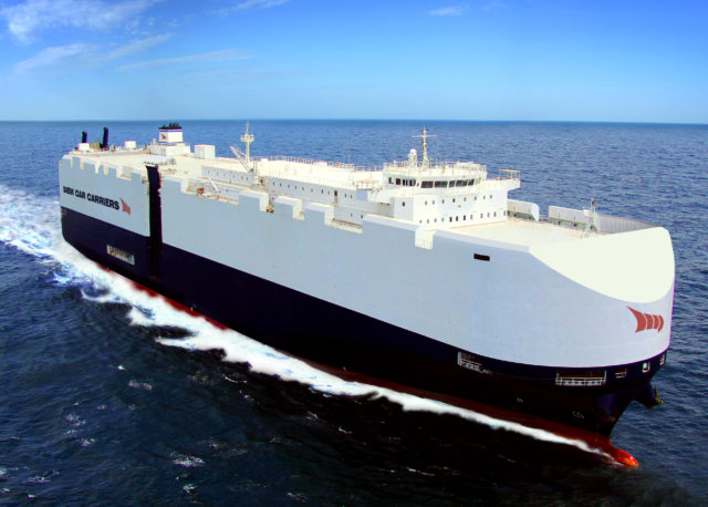 Volkswagen, LNG, RoRo, GNL, fletar, transporte, vehículos, medio ambiente, emisiones, CO2, SOx, NOx, América, Europa, PCC, PCTC, Noticias Marítimas Colombia