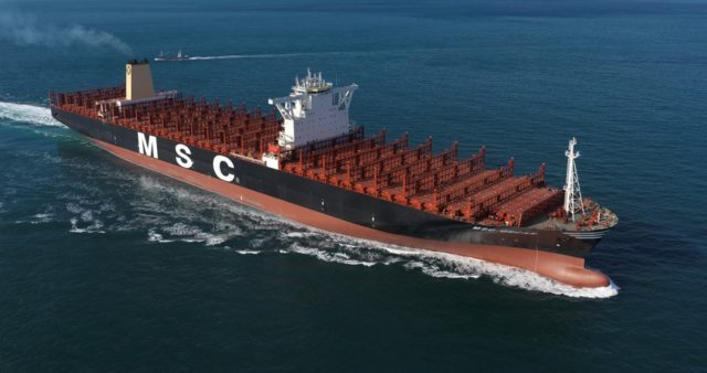 MSC, Ship finance international limited, MSC Anna, HHI, Hyundai Heavy Industries, Korea, Bermuda, new building, construcción, sobrecapacidad, información marítima y portuaria