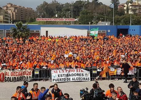 España, estibadores, trabajadores portuarios, reforma portuaria, huelgas, paro, información marítima y portuaria