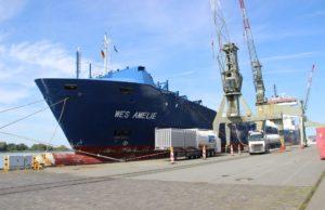 Wes Amelie, LNG Nauticor, Bremenhaven, Hamburgo, astillero, Wessels Reederei, alemania, medio ambiente, co2, mar báltico, mar del norte, información marítima, información portuaria, información marítima y portuaria, buques, conversión