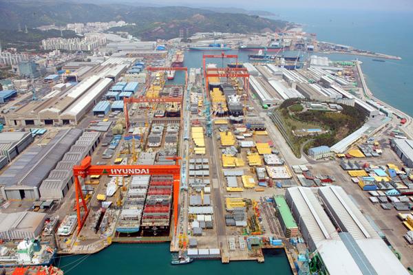 Hyundai heavy industries shipyard