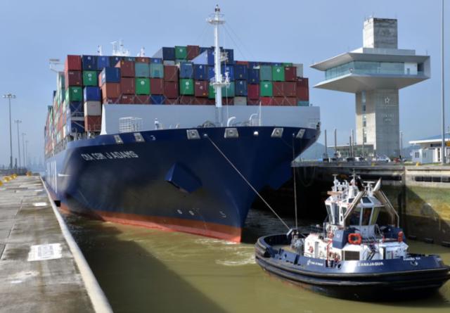 Canal, Canal de Panamá, CMA CGM, record, 14000, contenedores, liner, ocean alliance, buques, transito, información marítima, información portuaria