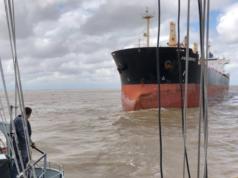 Uruguay, Marina Uruguay, buque, granelero, bulker, piratas, polizones, Nigeria, Lagos, fondeo, montenegro, información marítima, información portuaria, información marítima y porturia