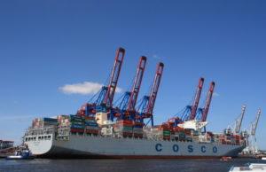 China Shipping, COSCO, COSCO CL, Maersk Line, Singapur, sobrepasar, tamaño, TEU, liner, contenedores, buques, tonelaje, capacidad, OOCL, CMA CGM, splash, información marítima, información portuaria