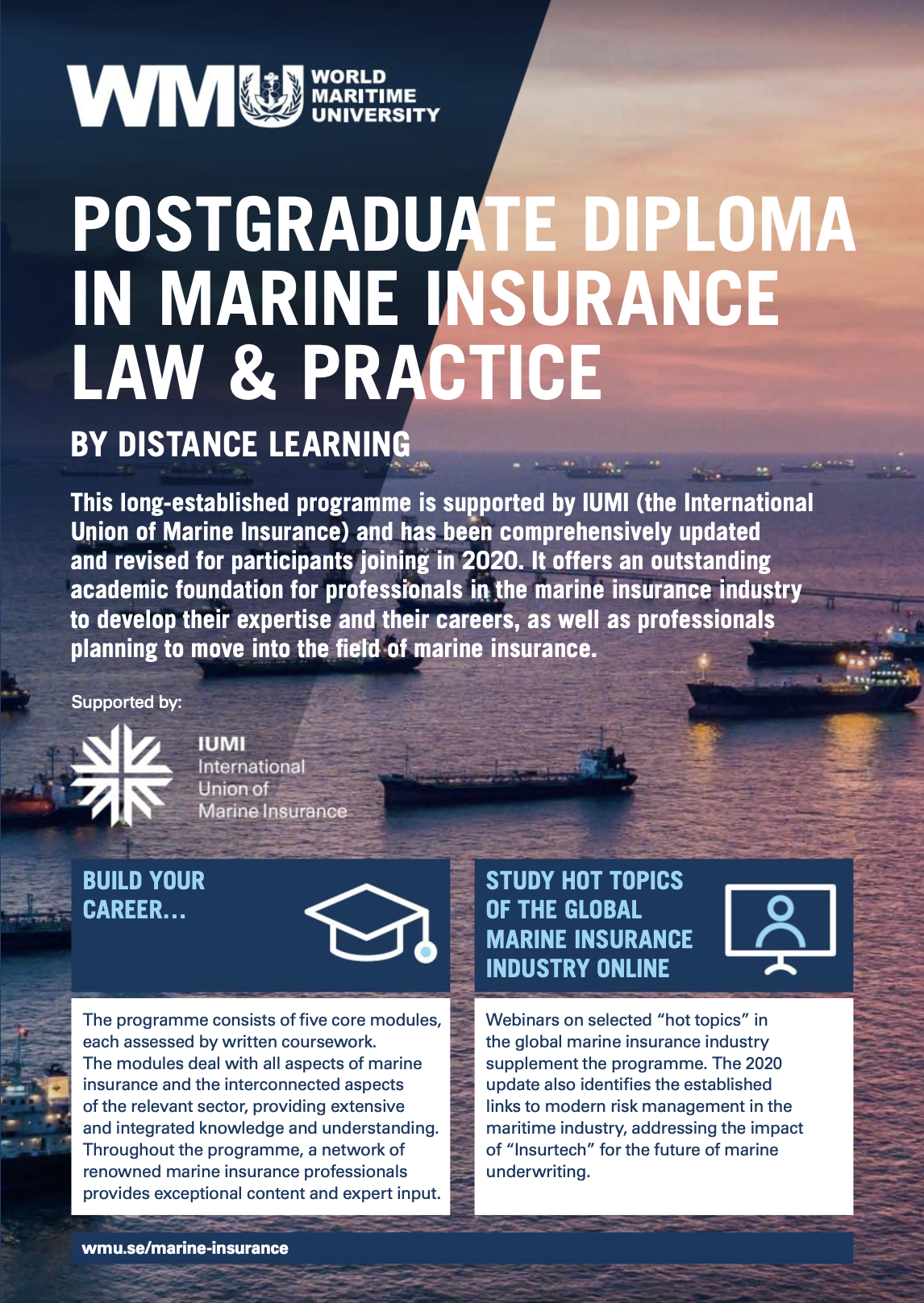 Marine Insurance Post Graduate Diploma - WMU